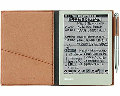New SHARP Electronic notebook Brown WG-S30-T