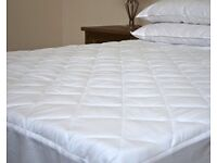 Premium 100% Egyptian Cotton SMALL DOUBLE Quilted Mattress Protector - 30cm Deep Fitted Skirt