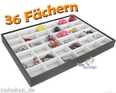 Vorlagebrett Schaukasten mit 36 Fächern  schwarz / weiss