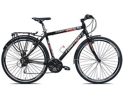 Bici Torpado Trekking Bike IBRIDA T830 SPORTAGE Uomo shimano acera 21V Nera M-52