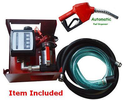 Fuel Transfer Pump Station 12v Dc 10gpm Diesel Kerosene Dispenser 155w