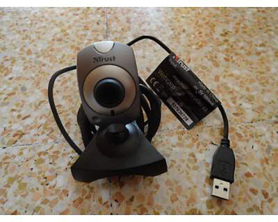 Lot of 20x TRUST Webcam WB-1400T USB 352x288 VGA 30FPS For MSN SKYPE CHAT NEW