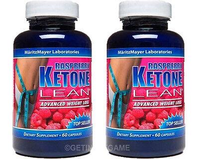 X 2 Btl Raspberry Ketone Lean Best  1 Maritzmayer Fat Weight Loss 1200 Mg 60 Cap