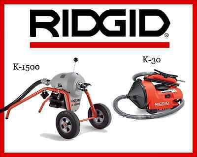 Ridgid Auto-clean K-30 Sink Machine 55808 Ridgid K1500 Sectional Machine 23707