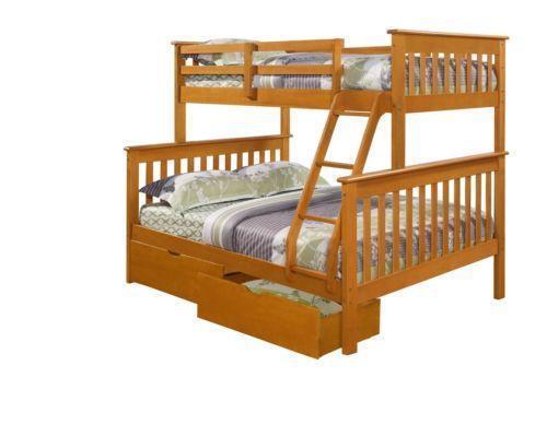 Wood Twin Bunk Beds Ebay