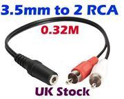 Mini to RCA Audio Cable