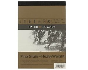 A5-DALER-ROWNEY-FINE-GRAIN-HEAVYWEIGHT-CARTRIDGE-PAD-200gsm-ARTIST-SKETCH-PAPER