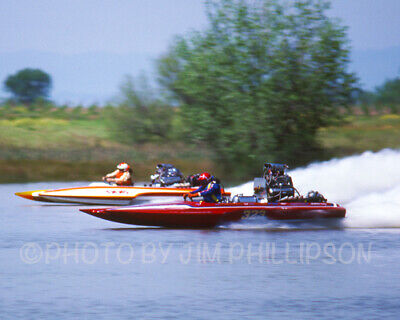 4x6 Color Drag Boat Racing Photo John Wite HOT LICKS Top Fuel Hydro Explosion