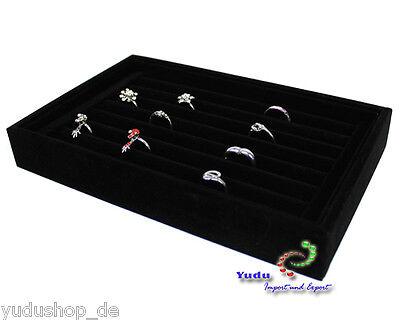 Samt Ringkasten Schmuckkasten Vorlagebrett für Ringe eleganter Ringhalter