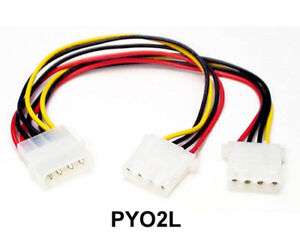 StarTech PYO2L LP4 to 2x LP4 Power Y Splitter Cable M/F