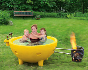 "AS SEEN ON ""HOW IT'S MADE"" Fire Powered Hot Tub!"