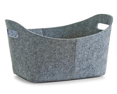 Zeller Filzkorb, oval, grau, 110227