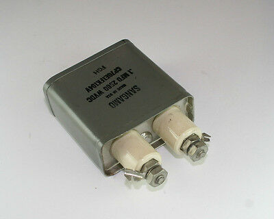 New Sang Cp70 .1uf 2500v Dc Oil Capacitor Porcelain Screw Terminals