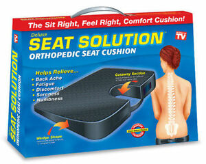 Orthopaedic Seat Cushion Wedge Tailbone Pillow Coccyx Spine Pain Relief Solution