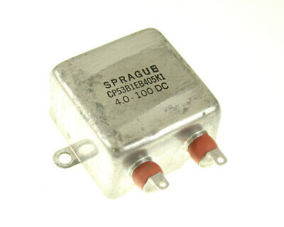 4uF 100VDC Oil-Paper Hermetically Sealed Bathtub Capacitor 100 vdc