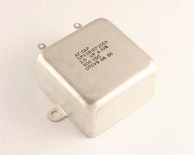 New Cp53b1ef205k 2uf 600v Paper In Oil Bathtub Capacitor 600vdc 2mfd