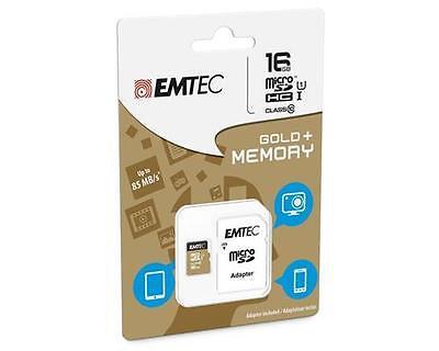 16 GB Micro SDHC Speicherkarte + SD-Adapter EMTEC Class 10 für Galaxy S3, 85MB/s