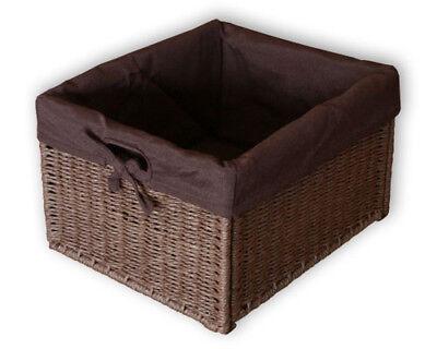 KMH® Schrankkorb Regalkorb Schrankkörbe Aufbewahrungskorb Box Kiste Rattan braun - Regal Körbe