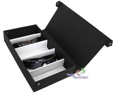 Brillenkoffer Brillendisplay Brillenständer für 5 Brillen Textilstoff