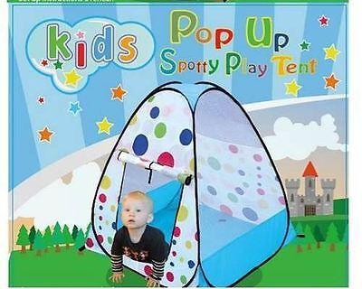 New Children's Kids Pop Up Play Tent Spotty Coloured Indoor Outdoor Toy Den Fun for sale  Shipping to Ireland