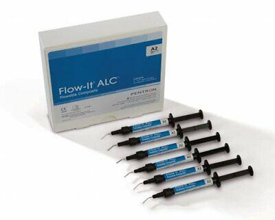 6 X Dental Flow-it Alc Flowable Composite 1.5gm By Pentron Usa