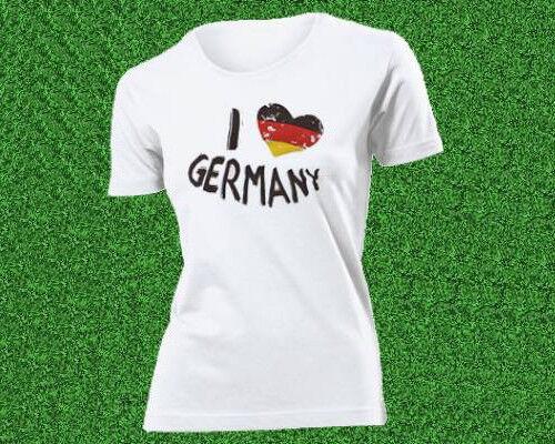 Deutschland Shirts, Fußball WM, I love Germany, Deutschland Flagge, Damen/Herren
