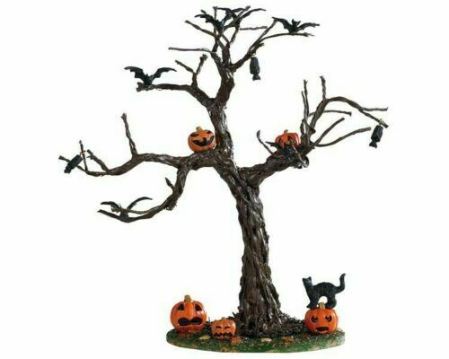 LEMAX SPOOKY TOWN COLLECTION 2019 BATTY PUMPKINS TREE