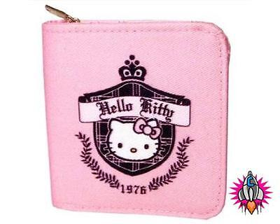 HELLO KITTY PREP 1976 PINK COIN CLIP PURSE WALLET NEW WITH TAGS