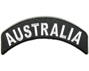 AUSTRALIA ROCKER EMBROIDERED IRON SEW ON CLOTH BIKER PATCH