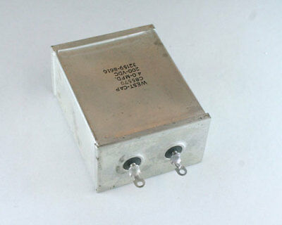 C85579 West Cap Capacitor 4uf 200v Oil Hermetically Sealed Radial