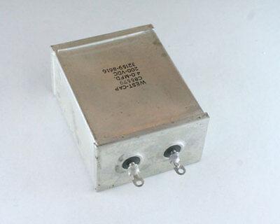 C85579 West Cap Capacitor 4uf 200v Oil Hermetically Sealed Radial