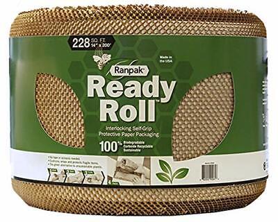 200 X 14 Ranpak Ready Roll Protective Paper Cushioning Wrap Bubble Wrap A...
