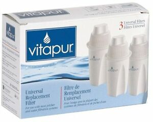 Vitapur UNIVERAL Replacement Filter 3 Pack - NEW, in sealed box
