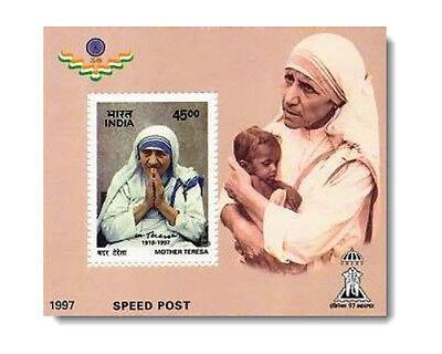 Mother Teresa 1997 mnh 45 Rs Commemorative Stamp