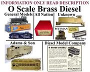O Scale Brass Trains