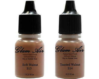 Glam Air Airbrush Water-based Foundation in Set of Two (2) Assorted Dark Satin S Face