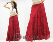 Womens Long Cotton Skirts