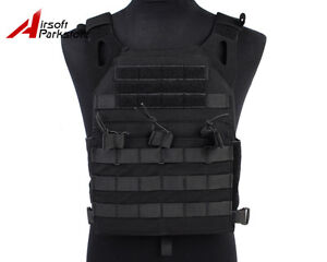 Military-Airsoft-Hunting-Paintball-Molle-Plate-Carrier-JPC-Vest-Black