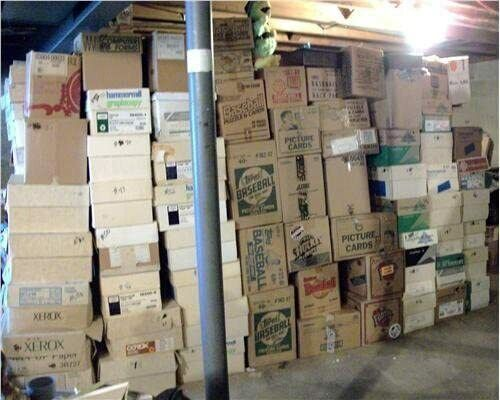 BASEBALL CARD STORAGE UNIT FIND  INVESTMENT LOT OF 100 CARDS LOADED STARS & RC