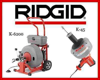 Ridgid K-45-1 Sink Machine 36013 Ridgid K-6200 Drum Machine 95732
