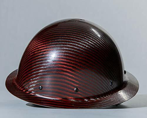 carbon fiber hard hat full brim Red-Black ANSI/ISEA Certified