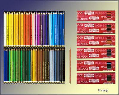 72 Polycolor Künstler Farbstifte KOH-I-NOOR Künstlerstifte +1 Blender gratis