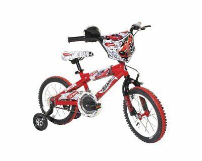 """Dynacraft Hot Wheels Boys BMX Street/Dirt Bike with Hand Brake 14"""", Red/White/"
