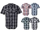 Plaids & Checks Short Sleeve Casual Shirts for Men