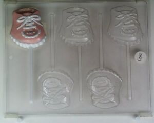 details about baby shoe lollipop chocolate candy mold molds shower