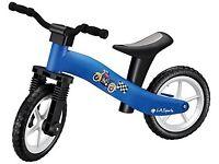 Lightweight Boys Blue Childrens Kids Balance Bike Suitable Ages 2, 3 & 4
