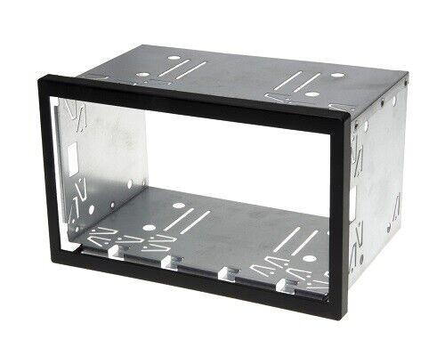 Auto Radio Blende Halterung Schacht Rahmen 110mm Doppel DIN ISO universal Metall