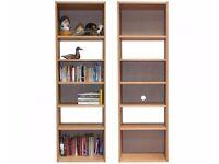 Futon Company oak bookshelf with built-in desk/storage (2 sets available)