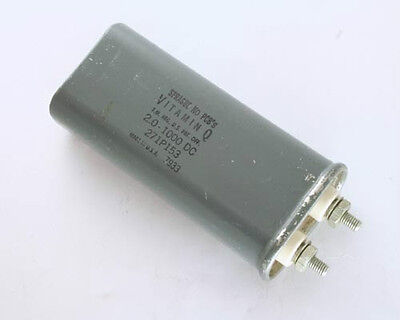 Nos Sprague 2uf 1000v Dc Paper In Oil Capacitor Vitamin Q 2mfd 1kv 1000vdc