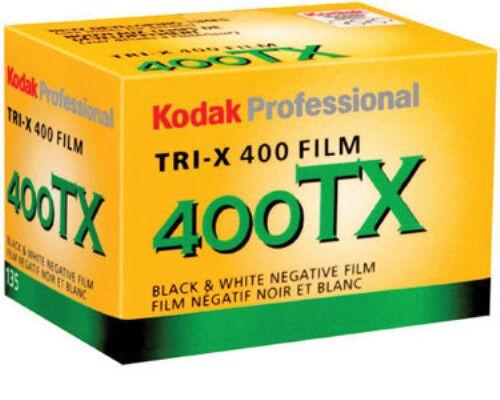 Kodak TX ISO 400 TX-36 Tri-X Pan Black and White B&W 35mm Film